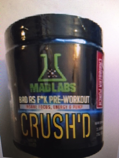 Dmaa Pre Workout >> Madlabs Crush D Pre Workout With 1 3 Dmaa 25 Servings Ironhouse Gym